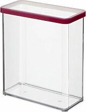 Rotho Vorratsdose Premium Loft - aromadichte Aufbewahrungsbox - BPA-freie Frischhaltedosen - Kunststoffbehälter ist spülmaschinentauglich - Inhalt 3.2 l - Form rechteckig - ca. 20 x 10 x 21.4 cm (LxBxH) - transparent/transparent- 1160800096