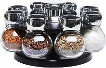 Rotierende Gewürzbehälter Set Kreative Glas