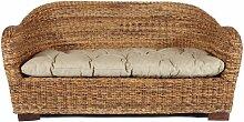 Rotin Design SSV : -38% Rattansofa AZUR - Korbsofa - inkl. Sitzpolster - Massivholzfüße - Braun