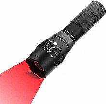 Rotlicht LED Taschenlampe, 500 Lumen LED