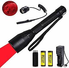 Rotlicht-LED-Taschenlampe, taktische