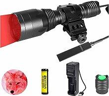 Rotlicht-Taschenlampe, 1000 Lumen Rote