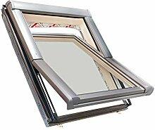 Roto Dachfenster aus Holz mit Eindeckrahmen (54x98)