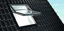 Roto Designo R7 WDF R75_K W WD AL Hoch-Schwingfenster aus Kunststoff mit Wärmedämmung und Eindeckrahmen (Eindeckrahmen: EDR Rx WD 1x1 ZIE AL, 114 x 140)