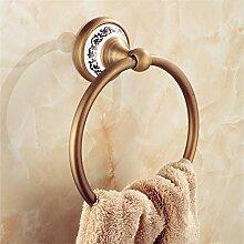 ROTOOY Handtuchringe Retro-Kupfer Gebürstet Bad