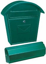 Rottner Tresor Briefkasten Aosta Set grün mit