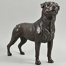 Rottweiler Hund Skulptur kalt gegossen Bronze Statue, Home Decor Pets Geschenkidee 15