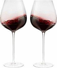 Rotweingläser, groß, ca. 70 ml, mundgeblasene