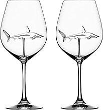 Rotweingläser in Becher Glas Klarglas für Home