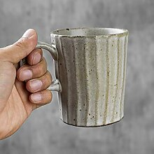 Rough Pottery Retro Kaffeetasse Becher Einfache