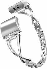 ROUHO Diamant X-Förmige Uhr Mit Metallgurt Für
