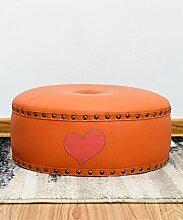 Round Massivholz für Schuhe Stuhl Mode tragen Schuhe Stuhl Kreativer kleiner runder Stuhl Paar kleine Lederhocker Sofa Hocker (Farbe wahlweise freigestellt) ( farbe : B )