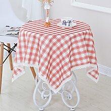 Round Table/Runde Tischdecke/runder Tisch/Tischdecken/wasserdichte Tapete/Große Tischdecke/Tuch/Ländliche karierten Tischdecke-D 90x90cm(35x35inch)