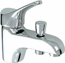 Rousseau 4054663Edinburgh metrou Mischbatterie für Badewanne/Dusche Chrom