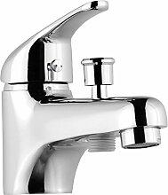 Rousseau 4056452Einloch Mischbatterie für Badewanne/Dusche Chrom