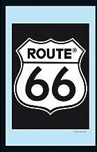 Route 66 Spiegel Classic Logo (22cm x 32cm)