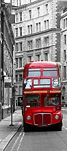 Routemaster, Doppeldecker, roter Bus in London,