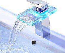 Rovate LED-Wasserfall-Wasserhahn, 3 Farben
