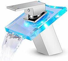 ROVOGO LED Licht Waschbecken Wasserhahn 3 Farben
