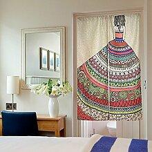 Rowentauk Baumwolle Leinen Tür Vorhang Tür Panel