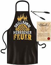 Roxyshirt Schürze Grillzange Grillhandschuh