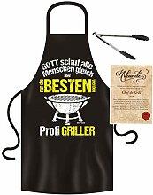 Roxyshirt Schürze Grillzange Grillhandschuh Nur