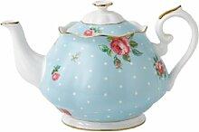 Royal Albert POLBLU25817 Teekanne aus feinem