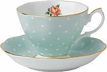 Royal Albert Polka Rose Set mit Teetasse und