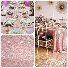 Royal Blush Pink. Wählen Sie Ihre Größe, glitzernde, Blush Pink Pailletten Tischdecke, Overlays, spezielle türkis Pailletten Tischdecke Läufer, Sonstige, Blush Pink, 48''*72''