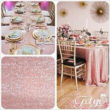 """Royal Blush Pink. Wählen Sie Ihre Größe, glitzernde, Blush Pink Pailletten Tischdecke, Overlays, spezielle türkis Pailletten Tischdecke Läufer, Sonstige, Blush Pink, 60""""*96"""