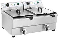 Royal Catering Doppel Elektro-Fritteuse - 2 x 16