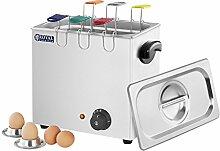 Royal Catering - Eierkocher Küchengerät (2600 W, Edelstahl, 8 l, für 6 Eier)