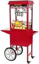Royal Catering Popcornmaschine mit Wagen - rot