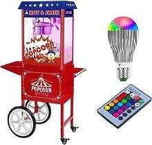 Royal Catering Popcornmaschine mit Wagen und