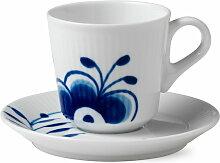 Royal Copenhagen - Mega Blau Gerippt Espressotasse