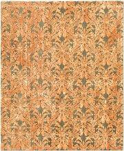 Royal Damask Teppich in Olive & Orange von Knots