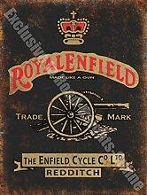 Royal Enfield Motorcycles Vintage Garage Metall/Stahl Wandschild - 30 x 40 cm