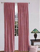 royal-fascination Fenster/Tür 100% Dicke Baumwolle Samt Gefüttert rodpocket Vorhang, verdunkelnd,, Samt, hautfarben, 50''w X 132''h