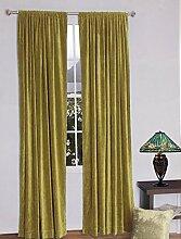 royal-fascination Fenster/Tür 100% Dicke Baumwolle Samt Gefüttert rodpocket Vorhang, verdunkelnd,, Samt, mokka, 50''w X 84''h