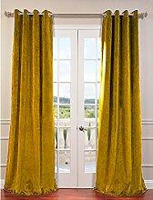 royal-fascination Fenster/Tür 100% Dicke Baumwolle Samt Gefüttert Verdunklungsvorhänge mit Thermoeffekt/gormmet Vorhang, Samt, gold, 50''w X 108''h