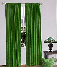 royal-fascination Fenster/Tür 100% Dicke Baumwolle Samt Gefüttert rodpocket Vorhang, verdunkelnd,, Samt, salbeigrün, 50''w X 84''h