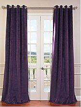 royal-fascination Fenster/Tür 100% Dicke Baumwolle Samt Gefüttert Verdunklungsvorhänge mit Thermoeffekt/gormmet Vorhang, Samt, beere, 90''w X 72''h