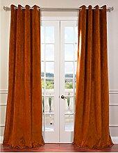 """royal-fascination Fenster/Tür 100% Dicke Baumwolle Samt Gefüttert Verdunkelung rodpocket curtain-66""""""""W x 137,2cm h-bronze"""