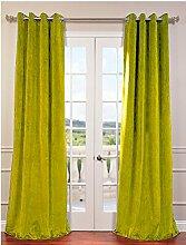 royal-fascination Fenster/Tür 100% Dicke Baumwolle Samt Gefüttert Verdunklungsvorhänge mit Thermoeffekt/gormmet Vorhang, Samt, zitrone, 46''w X 54''h