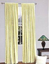 royal-fascination Fenster/Tür 100% Dicke Baumwolle Samt Gefüttert rodpocket Vorhang, verdunkelnd,, Samt, elfenbeinfarben, 50''w X 72''h
