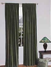 royal-fascination Fenster/Tür 100% Dicke Baumwolle Samt Gefüttert rodpocket Vorhang, verdunkelnd,, Samt, stone, 50''w X 144''h