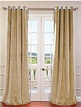 royal-fascination Fenster/Tür 100% Dicke Baumwolle Samt Gefüttert Verdunklungsvorhänge mit Thermoeffekt/gormmet Vorhang, Samt, mokka, 46''w X 54''h