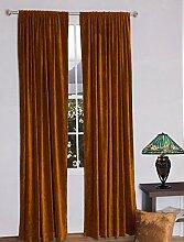 royal-fascination Fenster/Tür 100% Dicke Baumwolle Samt Gefüttert rodpocket Vorhang, verdunkelnd,, Samt, bronze, 50''w X 84''h