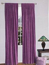 royal-fascination Fenster/Tür 100% Dicke Baumwolle Samt Gefüttert rodpocket Vorhang, verdunkelnd,, Samt, lavendel, 50''w X 72''h