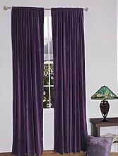 royal-fascination Fenster/Tür 100% Dicke Baumwolle Samt Gefüttert rodpocket Vorhang, verdunkelnd,, Samt, beere, 50''w X 84''h